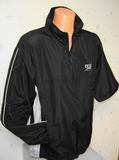 Golf bunda nepromok s rukávem na zip IZZO Waterproof -  2 v 1 - černá barva