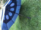 GOLF Deštník VELKÝ, proti větru , 2-vrstvý, double conopy, PEVNÝ, tmavomodrá barva - AKCE