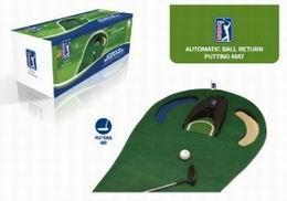 Automatic putting mat , cvičná golf podložka s jamkou - zvětšit obrázek