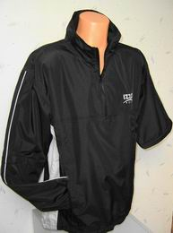 Golf bunda nepromok s rukávem na zip IZZO Waterproof -  2 v 1 - černá barva - zvětšit obrázek