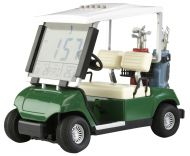 Mini Golf vozík - LCD budík, hodinky a teploměr - golfové dárky - zvětšit obrázek