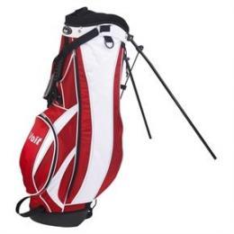 Glf Stand bag (stojánek) - bílá s černou nebo červenou - zvětšit obrázek