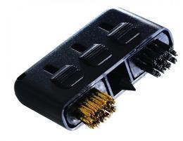 Golf Brush - kapesní kartáček na hole a obuv 3 v 1 - růžová nebo černá  - zvětšit obrázek