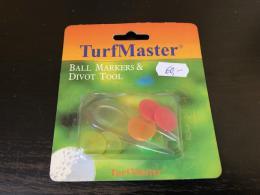 Plastové golf vypichovátko + 5 ks markovátko TurfMaster - zvětšit obrázek
