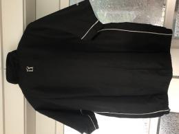 Golfová bunda PGA Tour krátký rukáv, větrovka s úpravou proti dešti - černá nbeo krémová barva - zvětšit obrázek