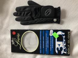 Dámská GOLF rukavice s MARKOVÁTKEM  - černá, LONGRIDGE - AKCE - zvětšit obrázek