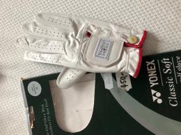 Golf rukavice dámská kůže YONEX LADIES GOLF GLOVE + Markovátko - levák, na pravou ruku! - zvětšit obrázek