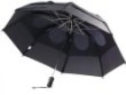 VELKÝ Golfový deštník Double Conopy, GOLF, 2-vrstvý, černý,  proti větrový - AKCE - zvětšit obrázek